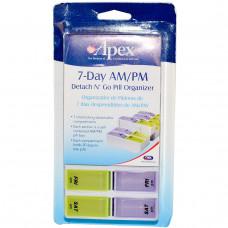 DNG Apex, Недельный походный органайзер для таблеток Detach N Go, 1 органайзер для таблеток