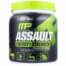 Muscle Pharm, Assault, Энергия + Сила, предтренировочный комплекс, зелёное яблоко, 333 г.