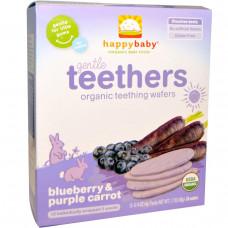 Nurture Inc. (Happy Baby),органические вафли для прорезывания зубов, черника и фиолетовая морковь