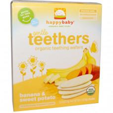 Nurture Inc. (Happy Baby), Органические прорезыватели, мягкие вафли для прорезывания зубов, сладкий картофель