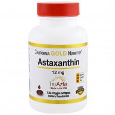 California Gold Nutrition, Натуральный астаксантин, тройная сила, получени и изготовлен в США , без ГМО, 12 мг, 120 вегетарианских капсул