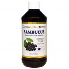 California Gold Nutrition, Сироп бузины, без алкоголя, 8 fl oz (237 ml)