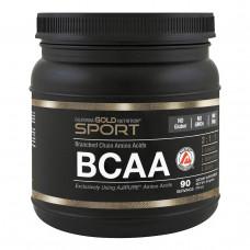 California Gold Nutrition, SPORT, AjiPure, Pure BCAA, Branched Chain Amino Acids, Gluten-Free, 16 унций (454 г)