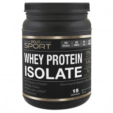 California Gold Nutrition, Sports, WPI 90, Instantized Whey Protein Isolate, Ultra-Low Lactose, 16 унций (454 г)