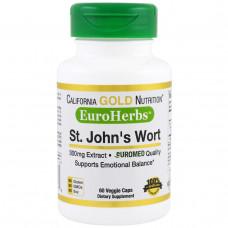 California Gold Nutrition, EuroHerbs Зверобой XT 300 mg, VC EM, 60 карат